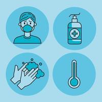set di icone di pandemia covid 19