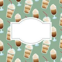 sfondo di tazze e tazze di caffè con spazio per il disegno vettoriale di testo