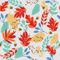 carino dolce autunno lascia senza cuciture vettore