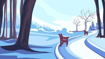 strada a winter park vettore