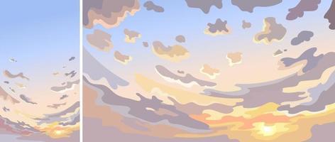 cielo con nuvole all'alba vettore