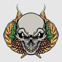 illustrazione di muertos del cranio vettore