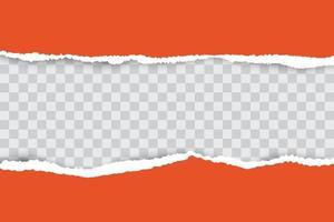 sfondo arancione carta strappata con posto per il testo.