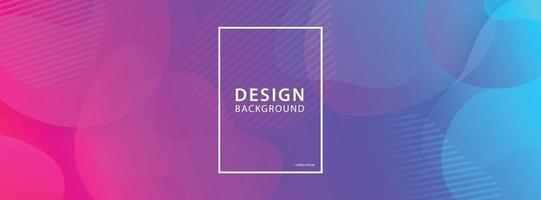 sfondo di progettazione di banner di forma fluida. modello gradiente geometrico liquido.