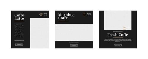 modello di post sui social media di caffè