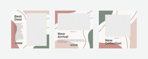 post sui social media mobili moderni minimalisti