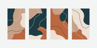 modello universale astratto alla moda con il concetto di natura per storie sui social media