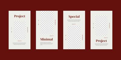 modello di storie di social media minimalista.