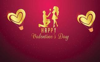 concetto di sfondo di San Valentino con i cuori
