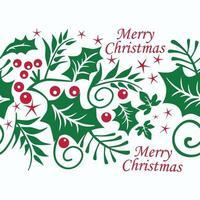 Seamless pattern di Natale con bacche rosse e foglie verdi su sfondo bianco. illustrazione vettoriale. vettore