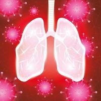 polmoni umani per la campagna contro il coronavirus