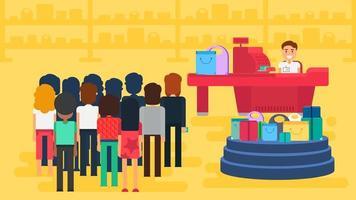 illustrazione del concetto di acquisto vettore