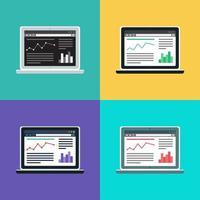 modello web del sito del computer o modulo articolo vettore