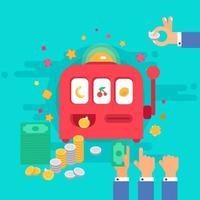macchina da gioco d'azzardo vettore