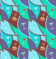 Vector seamless pattern con cocktail