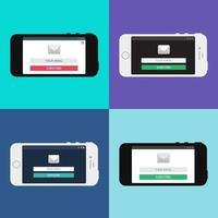 modello web del modulo e-mail dello smartphone vettore