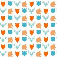 seamless pattern di fauna selvatica vettore