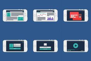 modulo modello web su smartphone vettore