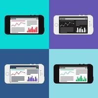 modello web del sito per smartphone o modulo articolo vettore