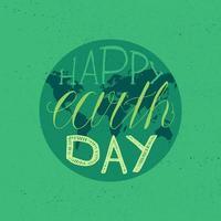 scritta felice giornata della terra vettore