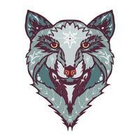 tatuaggio del lupo selvatico vettore