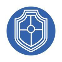 scudo icona di stile blocco di sicurezza vettore