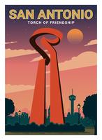 Cartolina di San Antonio vettore