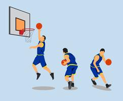 Vettore di atleti di pallacanestro