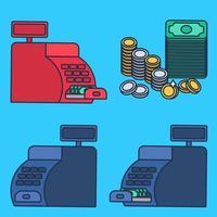 registratore di cassa e denaro vettore