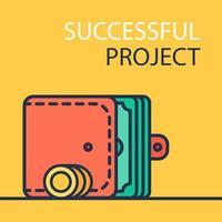 banner del progetto di successo vettore