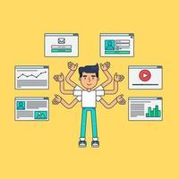 social network virtuale web vettore