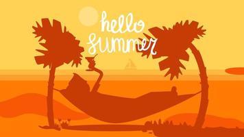 ciao estate concetto vettore
