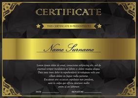 modello di certificato e diploma vettore