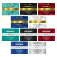 set di modelli di certificato e diploma vettore