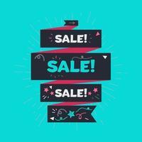 banner di vendita pubblicitaria vettore