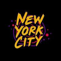 design della maglietta tipografica di new york city vettore