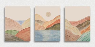 set di sfondo del paesaggio naturale vettore
