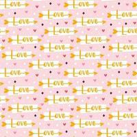 San Valentino vacanza amore Cupido freccia seamless pattern vettore