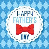 carta di felice festa del papà con decorazione a farfalla vettore