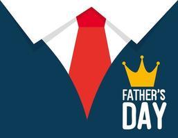 carta di felice festa del papà con decorazione di camicia e cravatta vettore