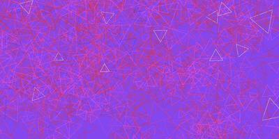 sfondo vettoriale rosa scuro, rosso con triangoli, linee.