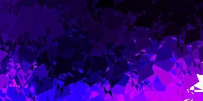 trama vettoriale viola scuro, rosa con forme di memphis.