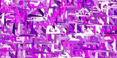 struttura vettoriale viola chiaro, rosa con triangoli casuali.
