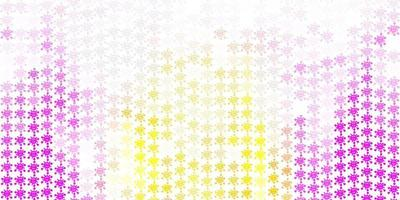 modello vettoriale rosa chiaro, giallo con elementi di coronavirus.