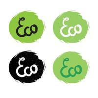 lettering naturale eco vettore