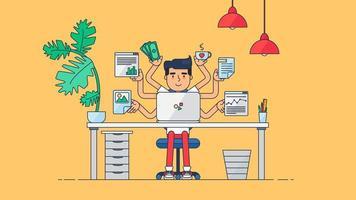 spazio di lavoro tecnologico creativo vettore