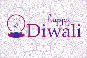 banner di celebrazione felice diwali vettore