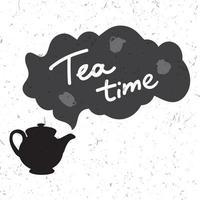illustrazione di tempo del tè vettore