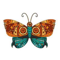 tatuaggio farfalla steampunk vettore