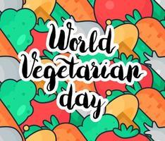 giornata vegetariana mondiale vettore